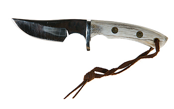 Knife with leather thong
