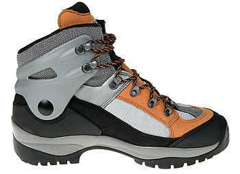 Side view of snowshoe boot
