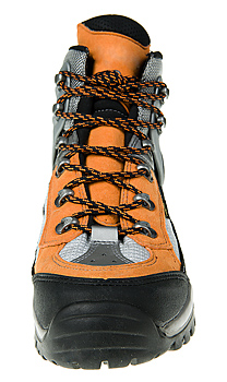 Front view of snowshoe boot