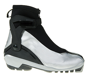 Side view of nordic ski boot