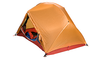 Tent with sleeping bag inside