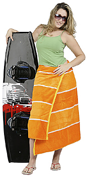 Young Woman Posing with Wakeboard