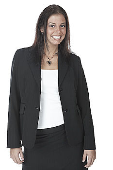 Young Businesswoman Grinning