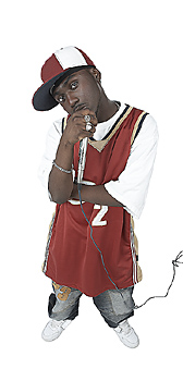 Hip-hop Teen with Microphone