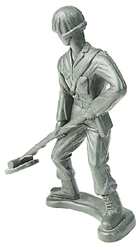 Toy soldier with metal detector