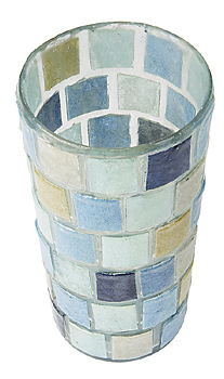 Cup with tiles