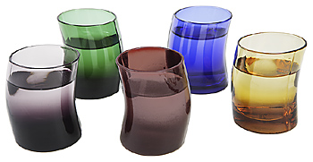Collection of tinted glassware