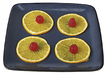 Citrus slices on serving tray