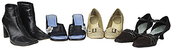 Array of women's shoes