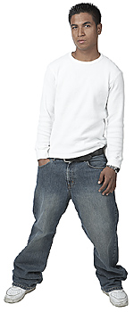 Young Man in Baggy Pants
