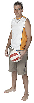 Man Posing with Volleyball