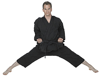 Male martial artist in stance