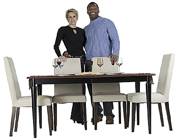 Couple standing by dinette