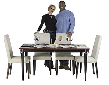 Couple posing by dinette