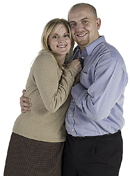 Affectionate couple posing together