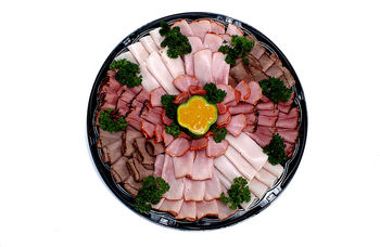 Platter of meat cold cuts