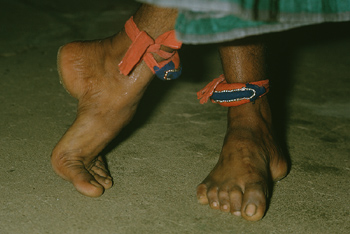 Ankles and feet of dancer in Morocco