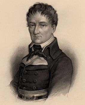 Portrait of French military engineer Lazare Nicolas Marguerite Carnot