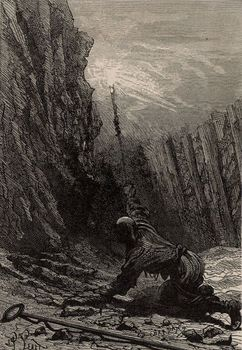 or, Mines and Miners, by Louis Simonin, 1869, wood engraving, mining, history, vintage, archival, 19th century, Der Stein der Weisen, 1895, engraving, history, 19th century, vintage, archival,
