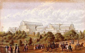 Exterior of the Crystal Palace in Hyde Park, London