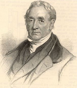 English railway pioneer George Stephenson