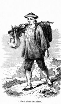 Chinese prospector in California gold rush
