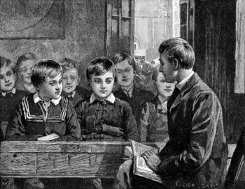 Man teaching boys in Sunday School