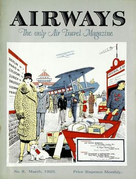 Cover of Airways magazine, March 1925