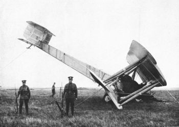 Crashed plane and British soliders