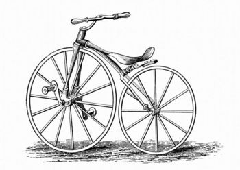 Crank-pedal bicycle invented by Thomas Pickering