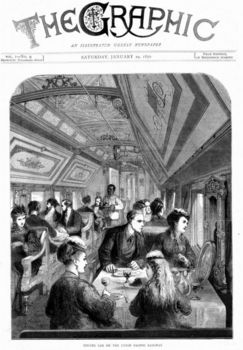 Magazine cover of Union Pacific Railroad dining car
