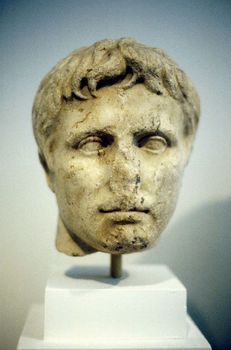 Contemporary bust of Alexander the Great in his youth