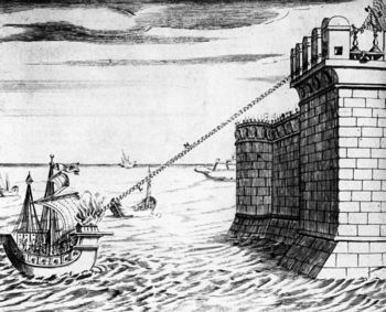 Reconstruction of device used to defend Syracuse from Roman armada