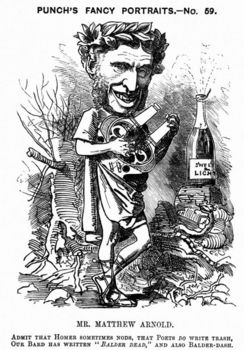 Cartoon portrait of Matthew Arnold