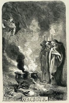 Art on title page of Macbeth