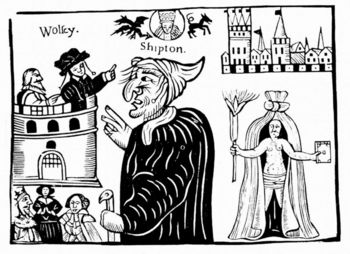 Mother Shipton fortelling death of Cardinal Wolsey