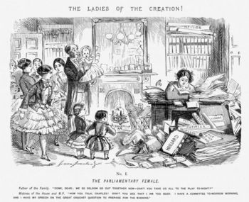 Cartoon about women's emancipation