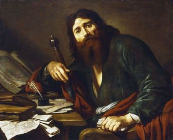 Painting depicting St. Paul the Apostle