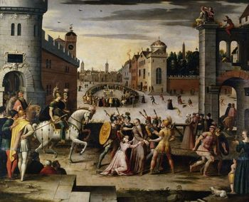 Arrest and execution of Thomas More depicted in painting by Antoine Caron