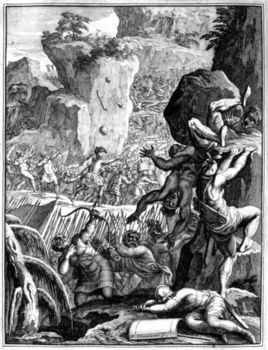 Depiction of troops of King of Visigoths sacking Rome
