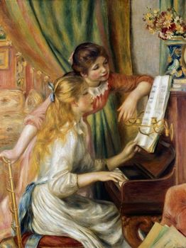 Painting Young Girls at the Piano by Renoir