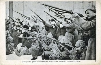 Photograph of rebels during Russian Revolution