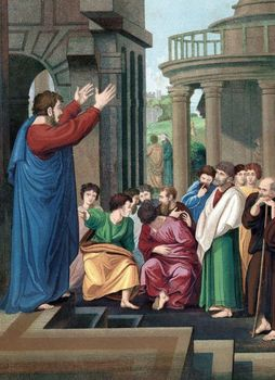 Art depicting St. Paul the Apostle preaching to Athenians