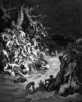 Depiction of the great biblical flood