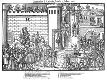 Engraving of the French religious wars