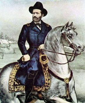 Portrait of Ulysses S. Grant on horseback
