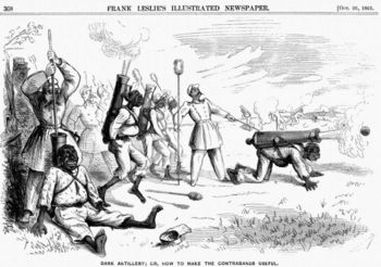 Political cartoon about slaves during Civil War