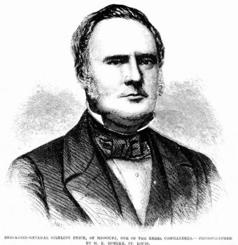 Portrait of General Sterling Price of Confederate states