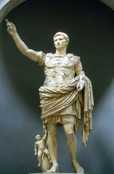 Statue of Caesar at the Vatican in Rome