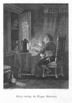 Man testing cures for plague in London